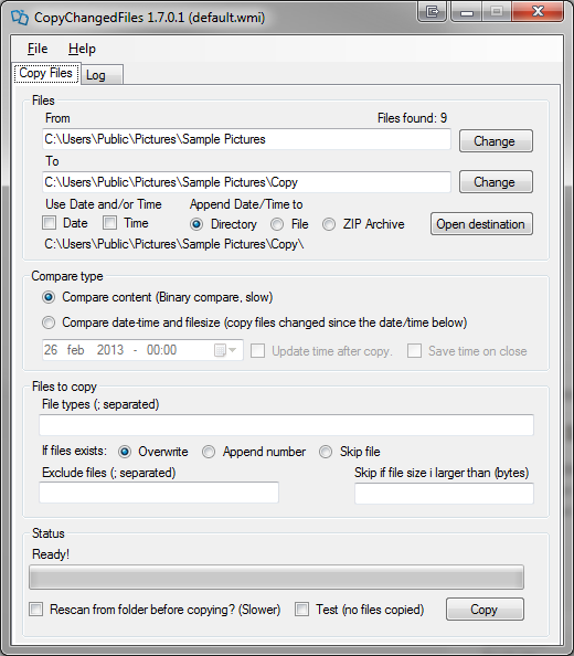 TSR Copy Changed Files Software - Free software for logging